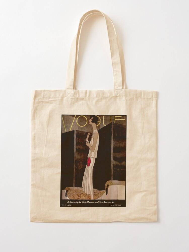 Alternate view of  VOGUE : Vintage 1928 Magazine Cover Print Tote Bag