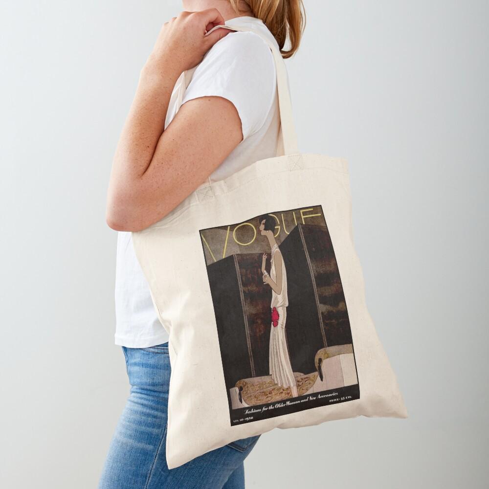 VOGUE : Vintage 1928 Magazine Cover Print Tote Bag