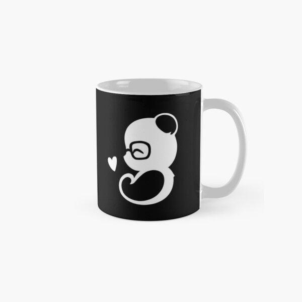 Panda Silhouette Portrait Classic Mug