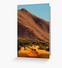 Ostrich outing Greeting Card