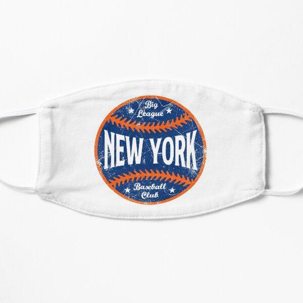 New York Retro Big League Baseball - White Flat Mask