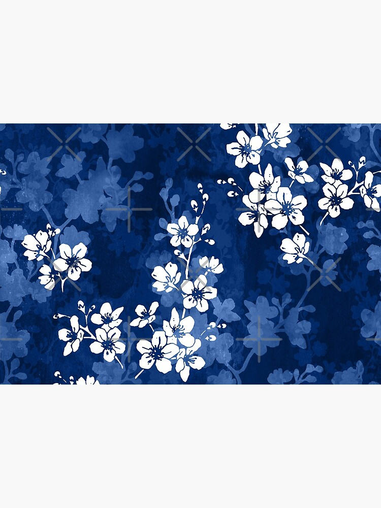 Sakura blossom in deep blue by adenaJ