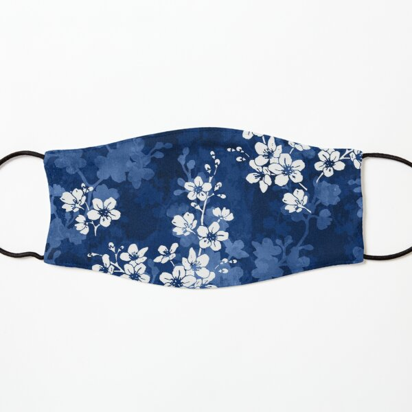 Sakura blossom in deep blue Kids Mask