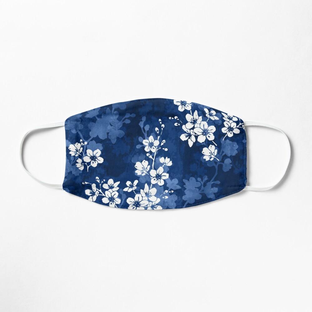Sakura blossom in deep blue Mask