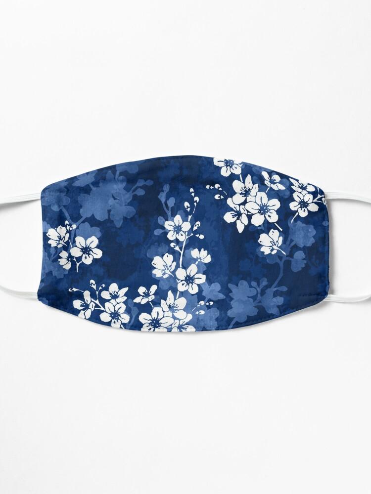 Alternate view of Sakura blossom in deep blue Mask