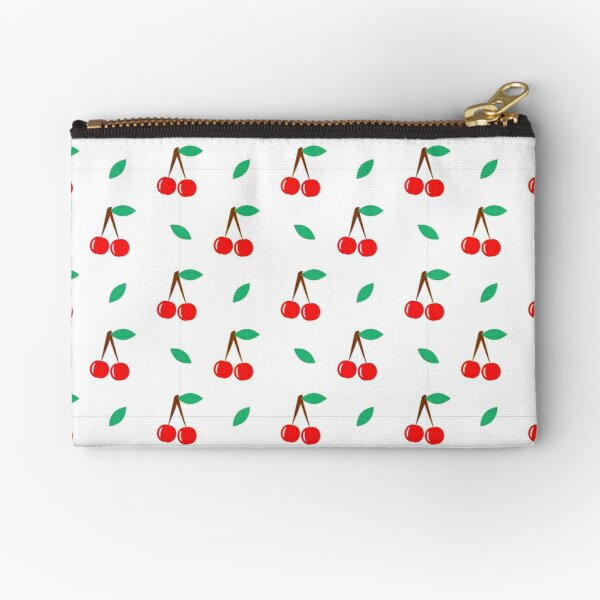 Simple Cherries Pattern Zipper Pouch