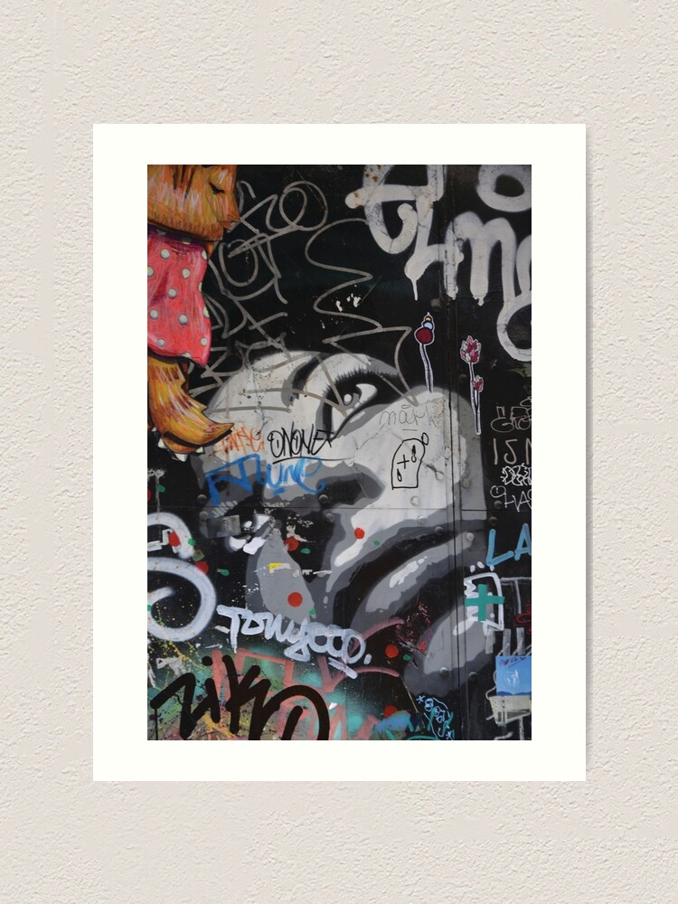 Alternate view of Barcelona Graffiti  Art Print