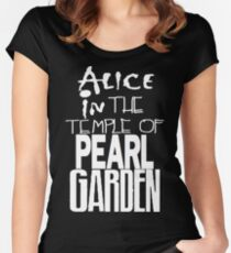 """"""" Alice in The Temple Of Pearl Garden"""" Women's Fitted Scoop T-Shirt"""