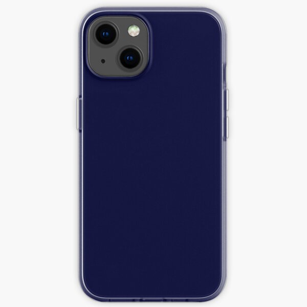 Midnight Blue Solid iPhone Soft Case