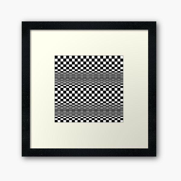 Op-art squares in motion Framed Art Print