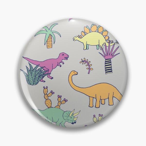Dinosaur Desert - peach, mint and navy - fun pattern by Cecca Designs Pin
