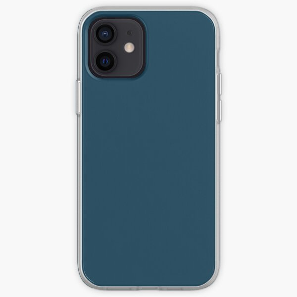 Deep Sailor Blue solid colour iPhone Soft Case