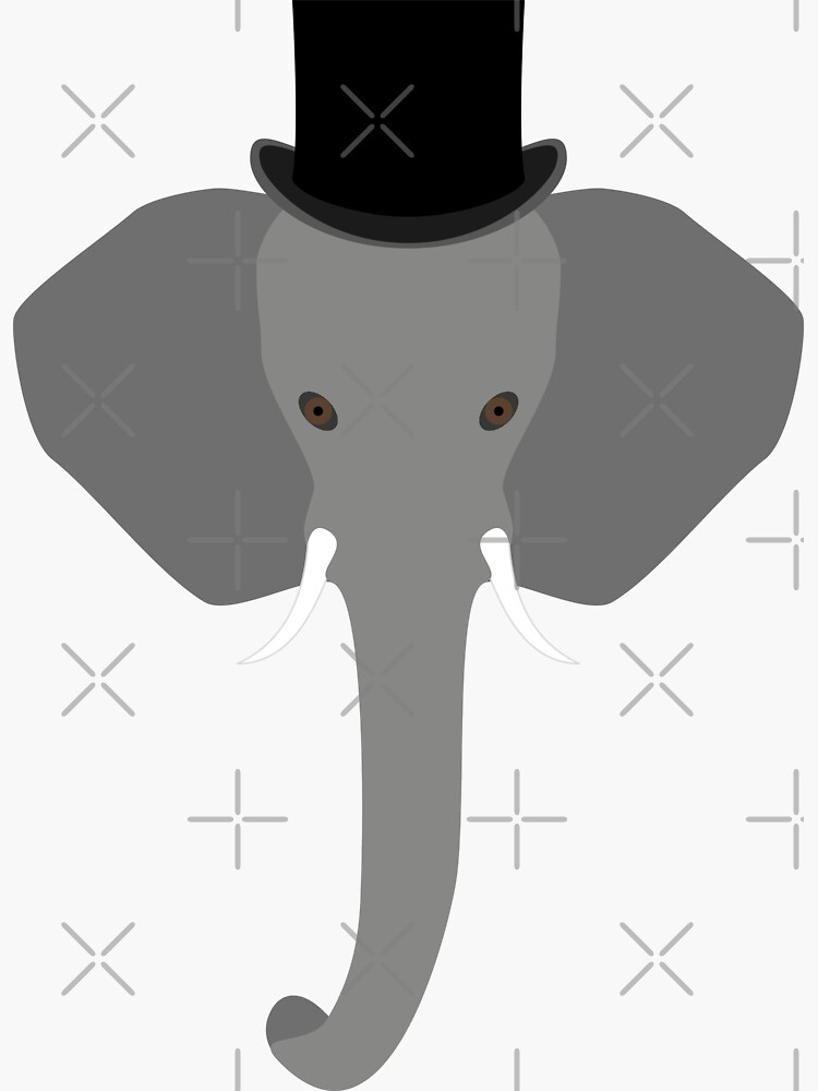 NDVH Elephant Wearing a Top Hat by nikhorne