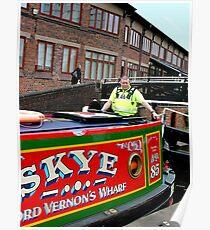 Police escort through Birmingham ! Poster