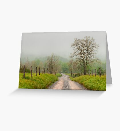 Sparks Lane - Cades Cove Greeting Card