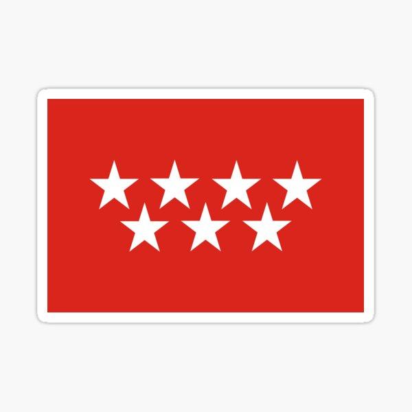 bandera de madrid Pegatina
