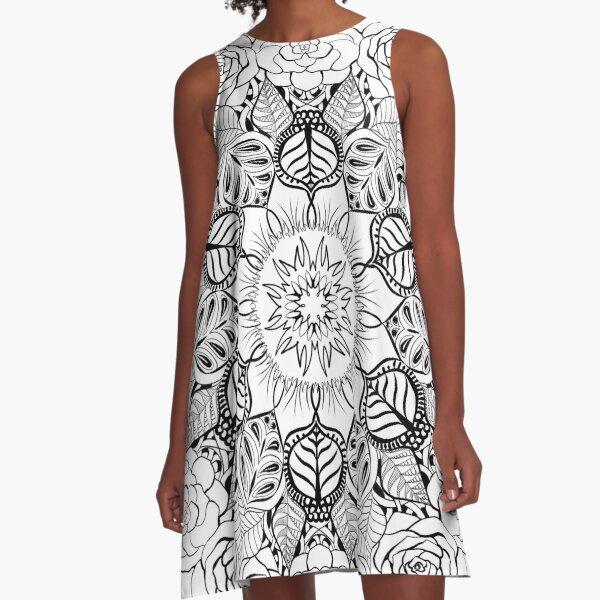 Nature Mandala A-Line Dress