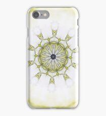 Yellow Black Art nouveau floral scroll-R019 iPhone Case/Skin