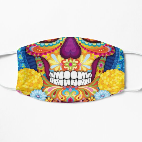 Sugar Skull - Colorful Day of the Dead Mandala Mask