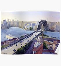Sydney Harbour to the West Poster