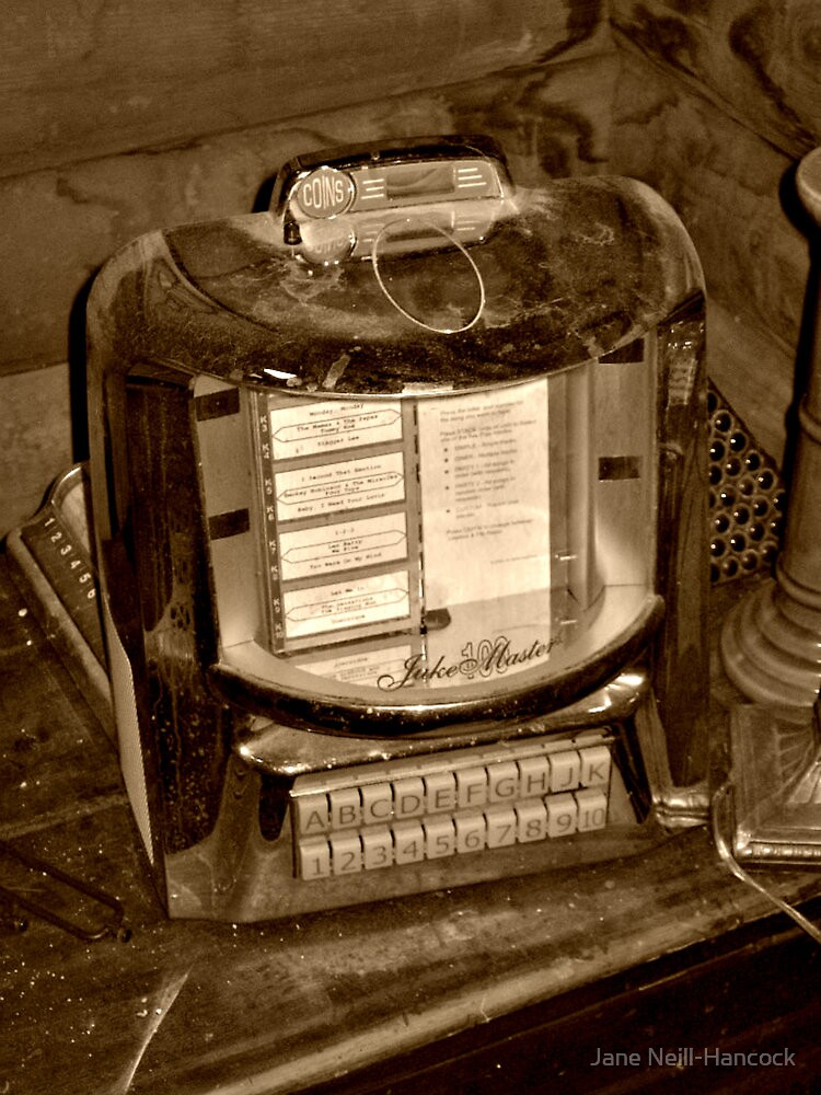 Antique Diner table top Jukebox by Jane Neill-Hancock