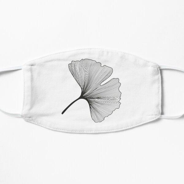 Ginkgo Biloba leaves pattern - black and white Mask