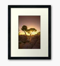 Shading Sunset Framed Print