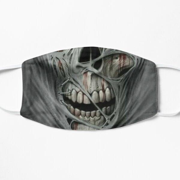 torn gray skull. Flat Mask