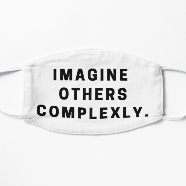 Imagine Others Complexly- John and Hank Green Flat Mask