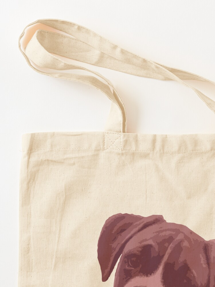 Alternate view of I love my dog - Boxer (Pink) Tote Bag