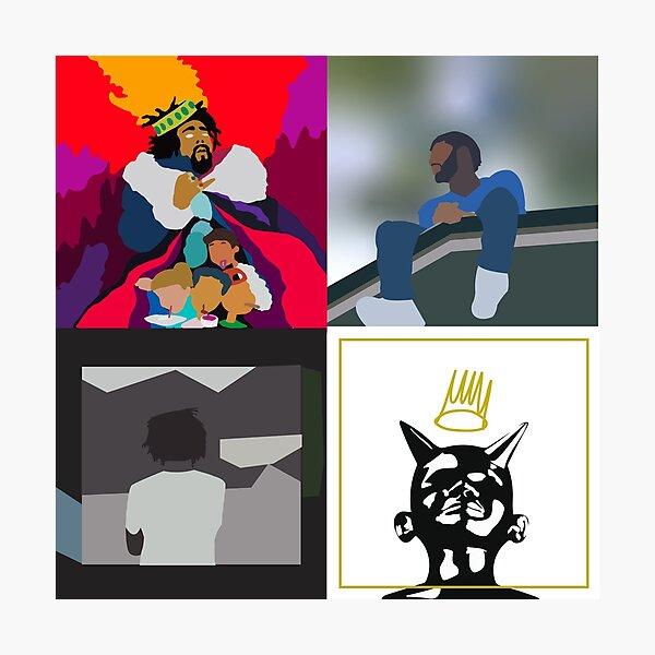 j cole minimal albums Photographic Print