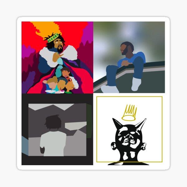 j cole minimal albums Sticker
