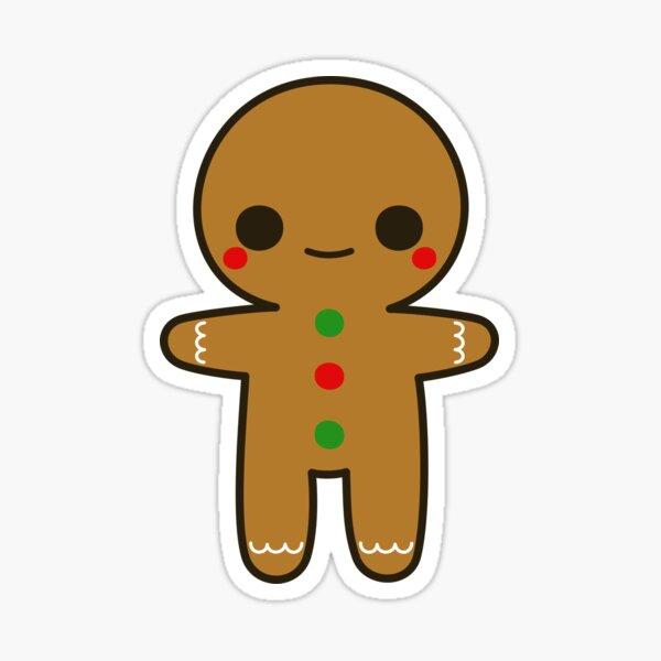 Cute gingerbread man Sticker