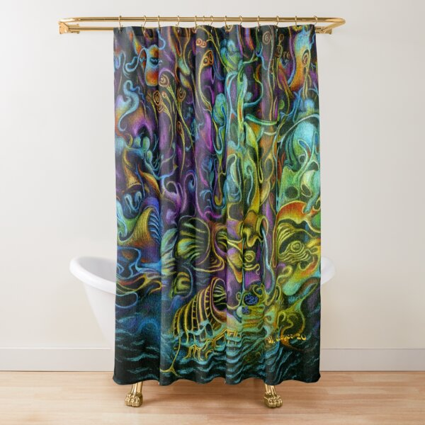 Nocturnal Maneuver Shower Curtain