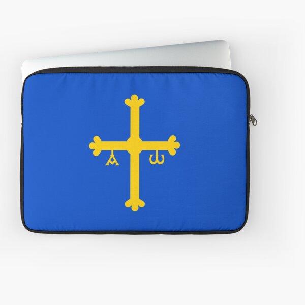 flag of asturias Laptop Sleeve