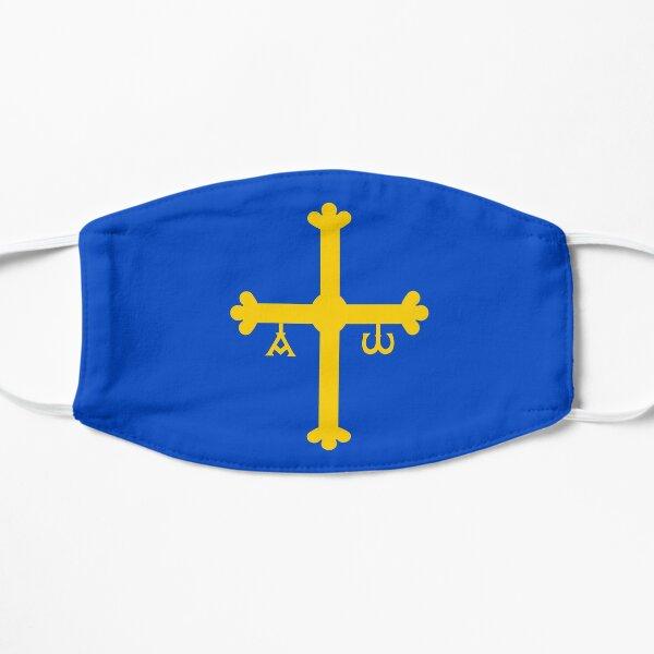 bandera de asturias Mascarilla plana