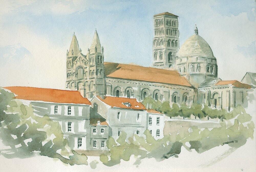 Cathédral St Pierre, Angoulême, France by ian osborne
