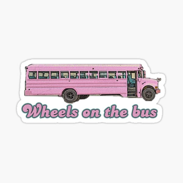 Wheels On The Bus Sticker Design Sticker