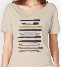 Pen Collection For Sketching And Drawing (Plain) Women's Relaxed Fit T-Shirt