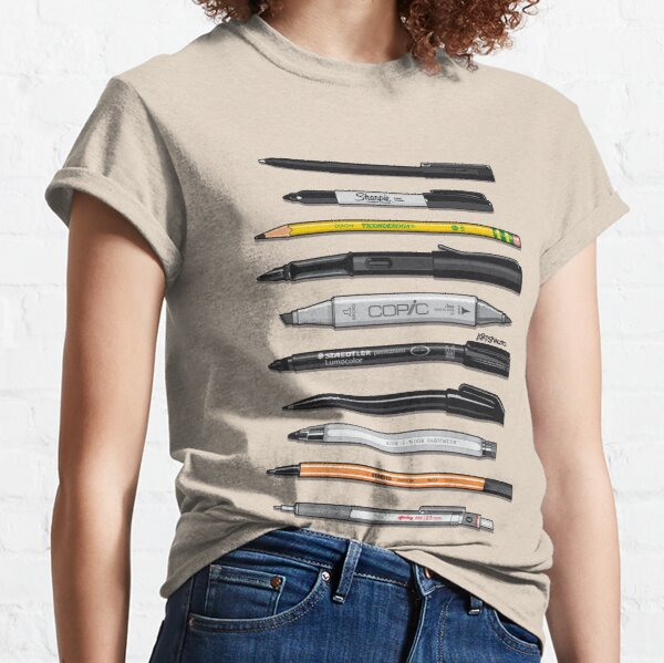 Pen Collection For Sketching And Drawing (Plain) Classic T-Shirt