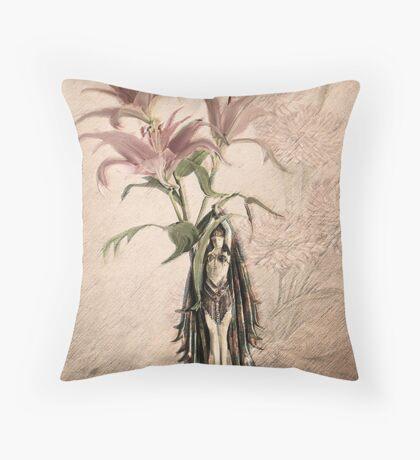 Deco Lilies Throw Pillow