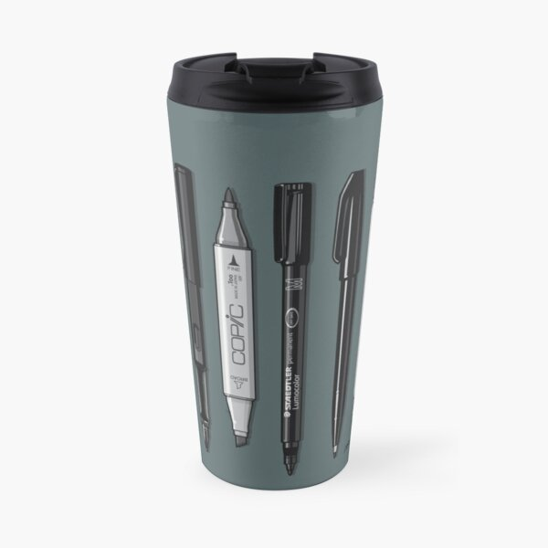 Pen Collection For Sketching And Drawing (Plain) Travel Mug