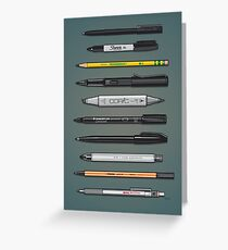 Pen Collection For Sketching And Drawing (Plain) Greeting Card