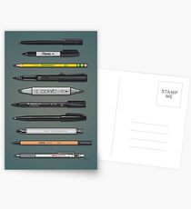 Pen Collection For Sketching And Drawing (Plain) Postcards