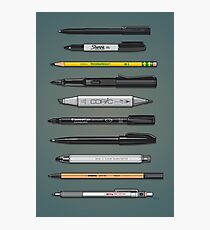 Pen Collection For Sketching And Drawing (Plain) Photographic Print