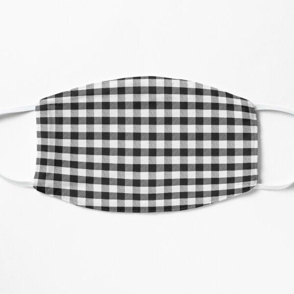 Black Gingham Flat Mask