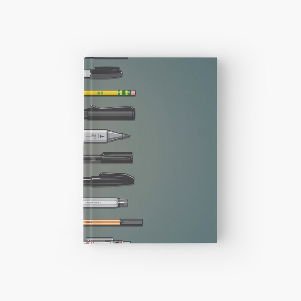 Pen Collection For Sketching And Drawing (Plain) Hardcover Journal