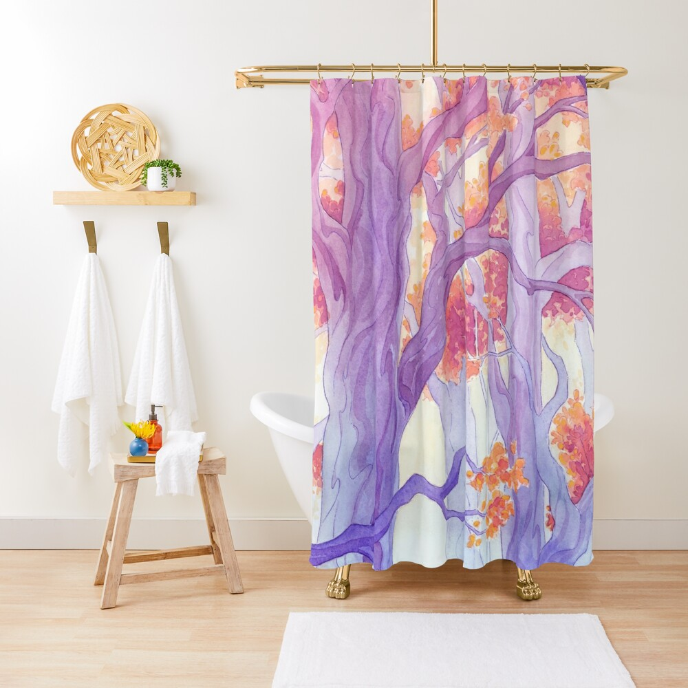 The Long Crossing - Purple Variant Shower Curtain