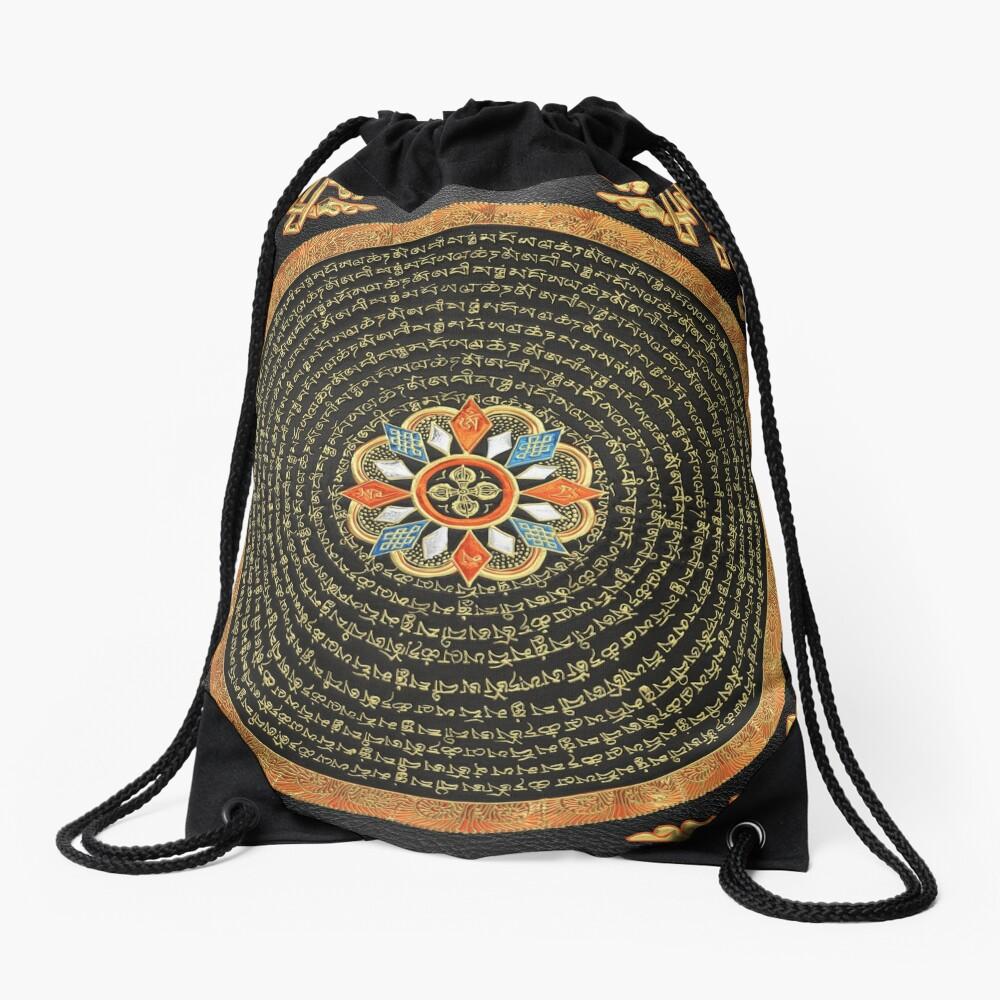 Drawstring Backpack Tangka Manjusri Bags