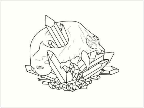 animal skull outline art prints by dewking redbubble